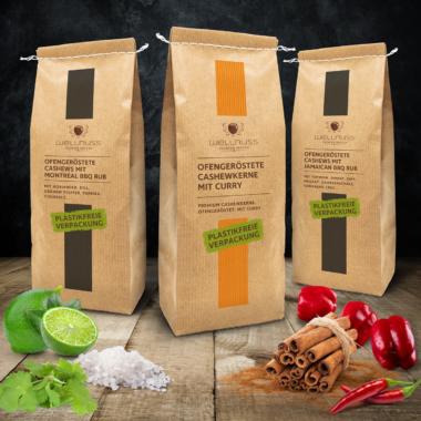 Wellnuss Premium Snacks wird plastikfrei – für edlen Genuss mit gutem Gewissen