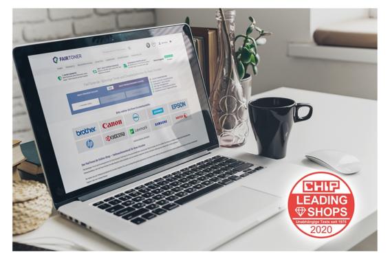 FairToner.de mit CHIP Leading Shops 2020 ausgezeichnet