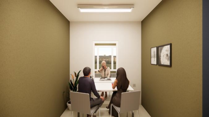 Modulare Besuchsräume für Senioren- und Pflegeheime