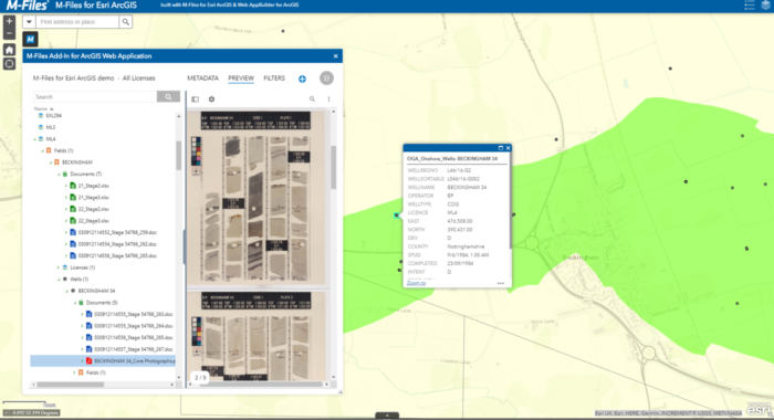 M-Files for Esri ArcGIS Integrates Intelligent Information Management Platform and Global Mapping Technology to Provide a Unified User Experience