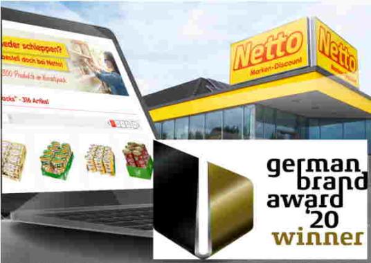 Netto-Online-Shop erhält den German Brand Award 2020