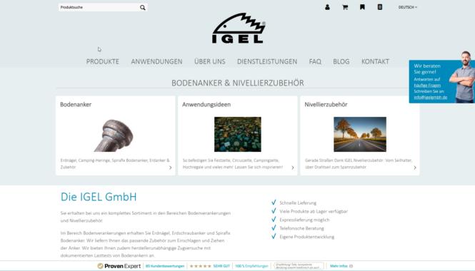 IGEL eröffnet Webshop für Erdnägel und Bodenverankerungen