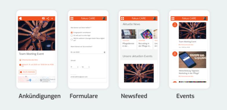 fokus CARE – Die App zur Kommunikation im Pflegesektor