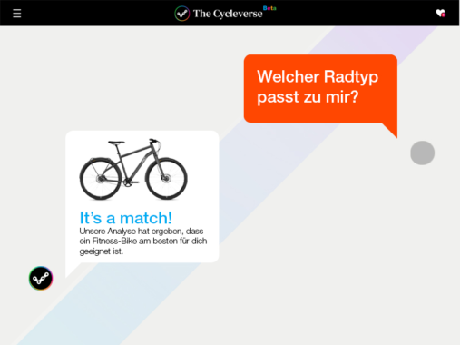 The Cycleverse launcht den Fahrrad-Finder.