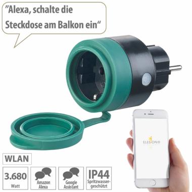 Luminea Home Control Outdoor-WLAN-Mini-Steckdose SF-475
