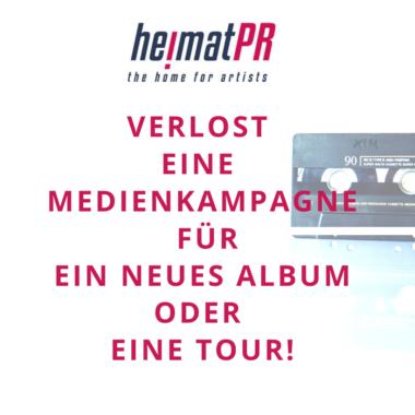 HeimatPR – the home for artists – verlost Medienkampagne!