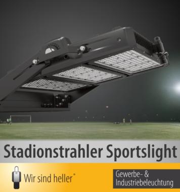 """""""Wir sind heller"""" LED Stadionflutlicht Sportslight"""