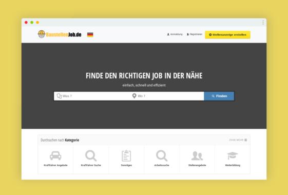 Neues Job Portal für die Baubranche online. Baustellenjob.de