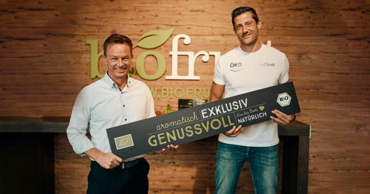 Michael Andrei wird Biofruit-Markenbotschafter