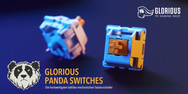 Glorious PC Gaming Panda Switches & G-LUBE bei Caseking!