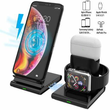 Callstel 3in1-Induktions-Ladestation für Smartphone & Co.