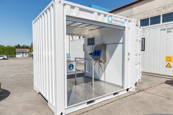 """Multifunktions-Container """"cleanstage"""" automatisiert Hygienekontrolle bei Eintritt zu Veranstaltungen"""