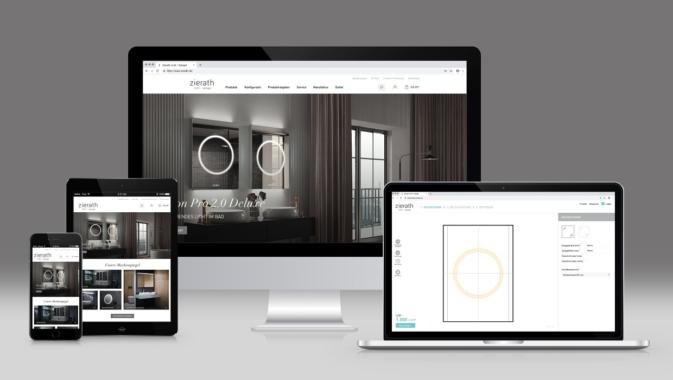 Zierath startet digital durch: Traumspiegel direkt online bestellen vom Hersteller
