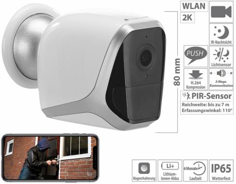 VisorTech 2K-IP-Überwachungskamera IPC-690