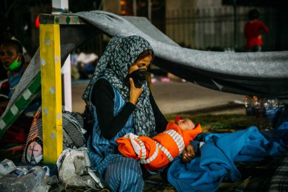 Alleingelassen auf Lesbos: Extreme Belastung für Anwohner und Geflüchtete / SOS-Kinderdörfer warnen vor Eskalation