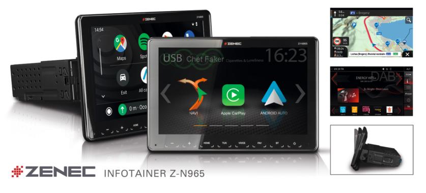 Mobile Infotainer: ZENEC 1-DIN Multimedia System Z-N965