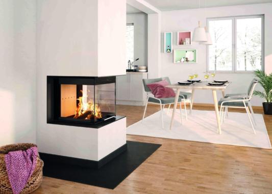 Kaminanlage mit Speicher bringt Feuervergnügen und Wärmebedarf in Einklang