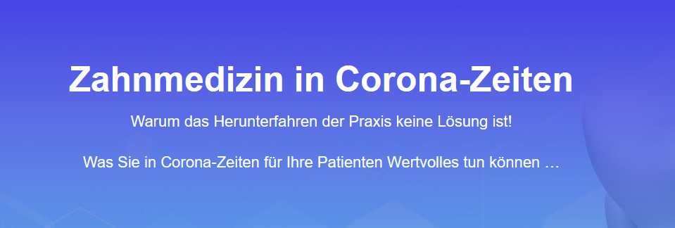 N3MO: Zahnmedizin in Corona-Zeiten
