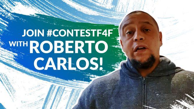 """Roberto Carlos teilt seine Liebe zum Fußball beim neuen """"Fußball für Freundschaft""""-Wettbewerb """"Ich liebe Fußball"""""""
