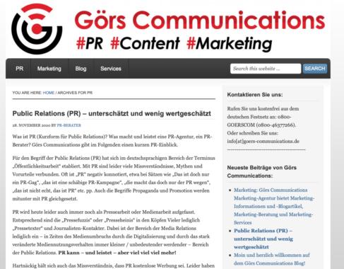 Public Relations (PR) – unterschätzt und wenig wertgeschätzt
