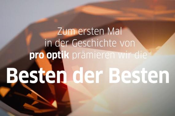 """pro optik prämiert die """"Besten der Besten"""""""