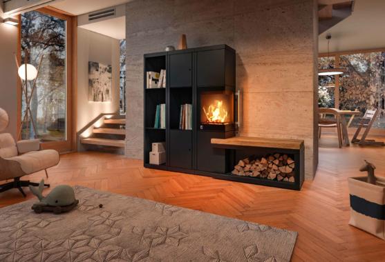 Feuer für Individualisten: Wohnfühloase aus Holz und Stahl