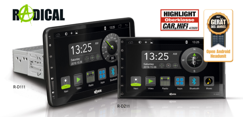 Geräte des Jahres – RADICALs Android Autoradios R-D111 und R-D211