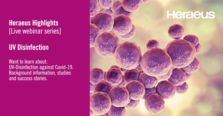 Neue Webinar-Serie zum Einsatz von UVC (UVGI) Desinfektion gegen COVID-19