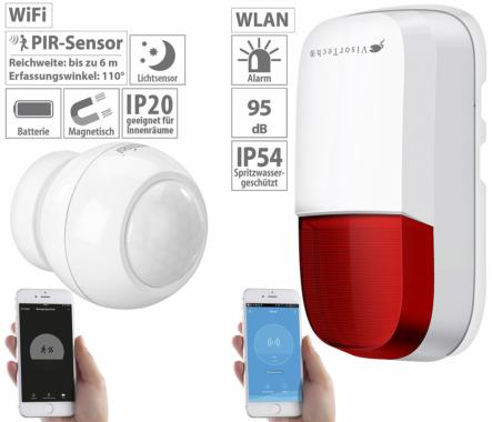 VisorTech WLAN-Outdoor-Sirene für ELESION