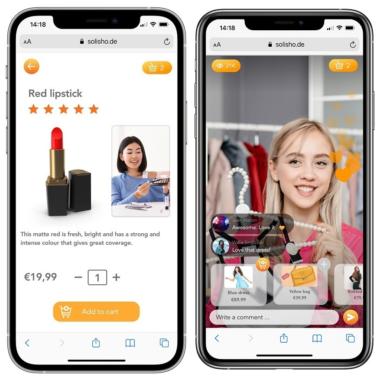 Shopping im Live-Stream mit solisho – Digitale Shopping-Lösung für Einzelhändler